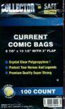Current Size Comic Bags 100 Stück: ca. 17,3 cm x 26,6 cm, mit Lasche