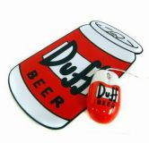 The Simpsons Duff Beer Optical USB Mouse and Mouse Mat