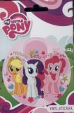 My Little Pony Vinyl Sticker: Applejack, Rarity, Pinkie Pie