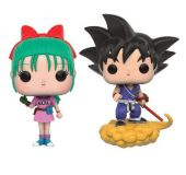 Pop! Dragonball - Bulma & Goku with Flying Nimbus Figures