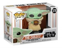 Pop! Star Wars - The Mandalorian: The Child with cup Vinyl Figure
